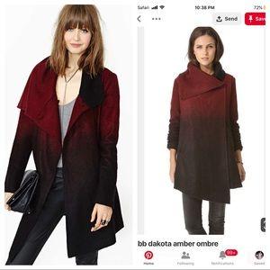 Ombré wool pea coat